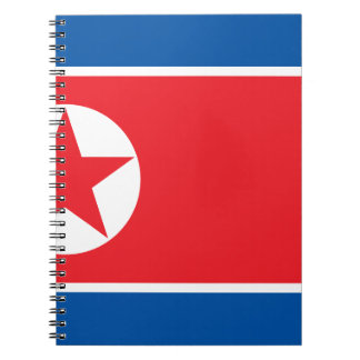 Flag of the Democratic People's Republic of Korea Spiral Notebook