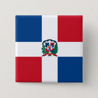 Flag of the Dominican Republic 15 Cm Square Badge