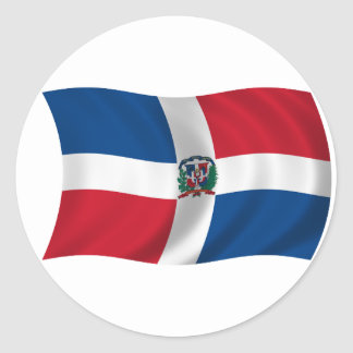 Flag of the Dominican Republic Classic Round Sticker