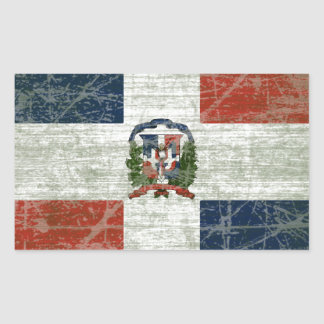 FLAG OF THE DOMINICAN REPUBLIC RECTANGULAR STICKER