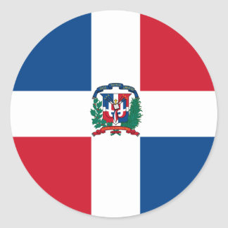 Flag of the Dominican Republic Round Sticker