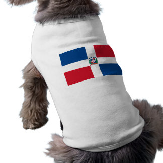 Flag of the Dominican Republic Sleeveless Dog Shirt