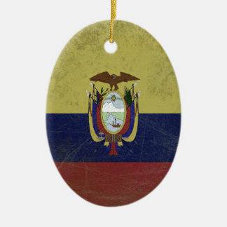 Flag of the equator ceramic oval decoration