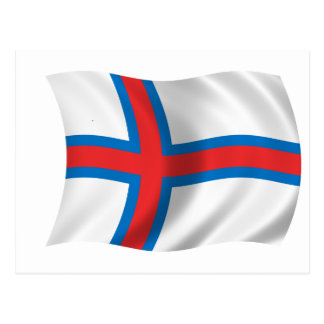Flag of the Faroe Islands Postcard