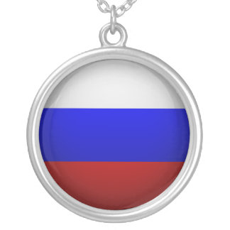 Flag of the Federation of Russia Round Pendant Necklace
