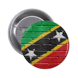 Flag of the Federation of Saint Kitts and Nevis 6 Cm Round Badge