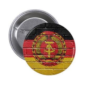 Flag of the former German Democratic Republic 6 Cm Round Badge
