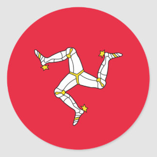 Flag of The Isle of Man Classic Round Sticker