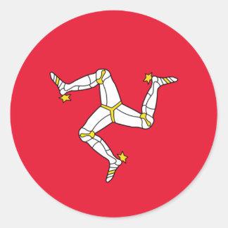 Flag of The Isle of Man Round Sticker