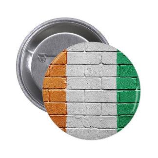 Flag of the Ivory coast 6 Cm Round Badge