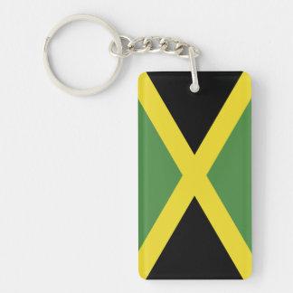 Flag of the Jamaica Double-Sided Rectangular Acrylic Key Ring