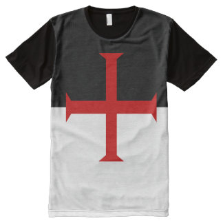 Flag of the Knights Templar All-Over Print T-Shirt