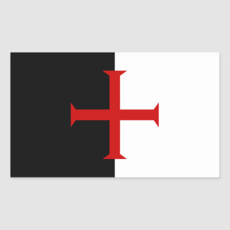 Flag of the Knights Templar Rectangular Sticker