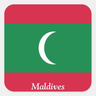 Flag of the Maldives Square Sticker