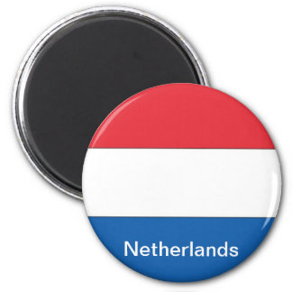 Flag of the Netherlands 6 Cm Round Magnet