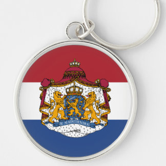 Flag of The Netherlands Coat of Arms Keychain