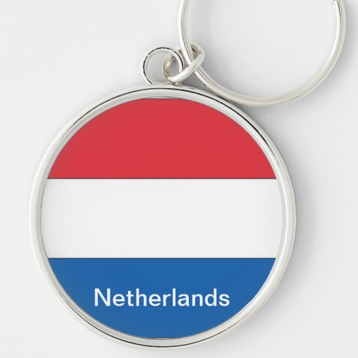 Flag of the Netherlands Keychain