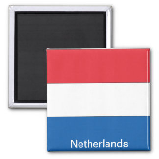 Flag of the Netherlands Square Magnet