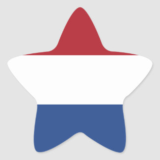 Flag of the Netherlands Star Sticker