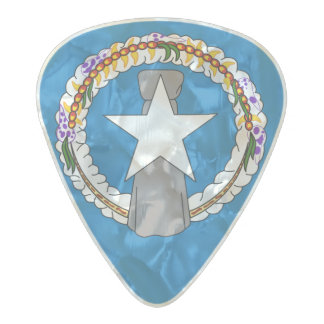 Flag of the Northern Mariana Is. Guitar Picks Pearl Celluloid Guitar Pick