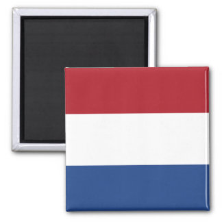 Flag of the of the Netherlands Square Magnet