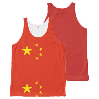 Flag of the People's Republic of China - 中华人民共和国国旗 All-Over Print Tank Top