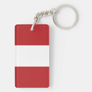 Flag of the Peru Key Ring