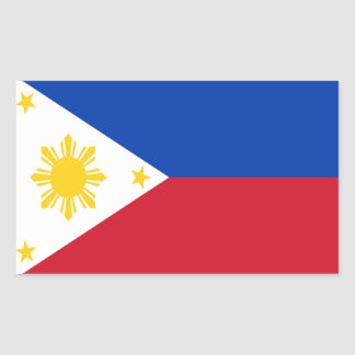 Flag of the Philippines Rectangular Sticker