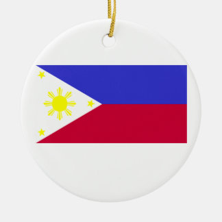 Flag of the Philippines Round Ceramic Decoration