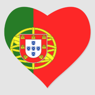 Flag of the Portugal Heart Sticker