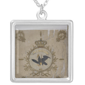 Flag of the Prussian Infantry Silver Plated Necklace