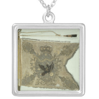 Flag of the Prussian Infantry under Frederick Silver Plated Necklace