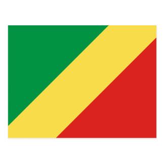 Flag of the Republic of Congo Postcard