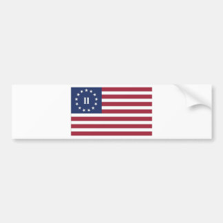 Flag  of the Second American Revolution Bumper Sticker