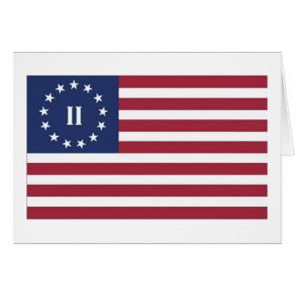 Flag  of the Second American Revolution Greeting Card