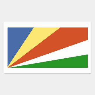 Flag of the Seychelles Rectangular Sticker