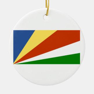 Flag of the Seychelles Round Ceramic Decoration