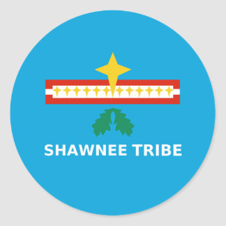 Flag of The Shawnee Tribe of Oklahoma Classic Round Sticker