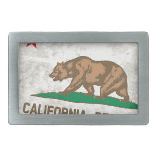 Flag of the State of California Grunge Belt Buckle
