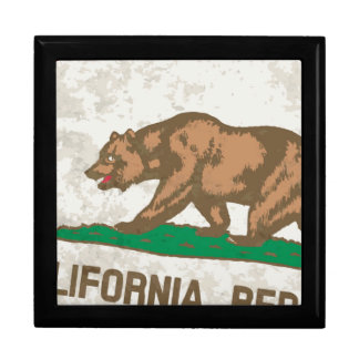 Flag of the State of California Grunge Gift Box