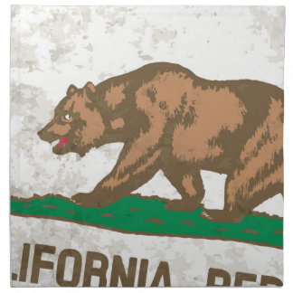 Flag of the State of California Grunge Napkin
