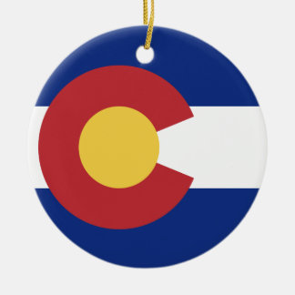 Flag of the State of Colorado Christmas Ornament