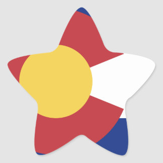 Flag of the State of Colorado Star Sticker