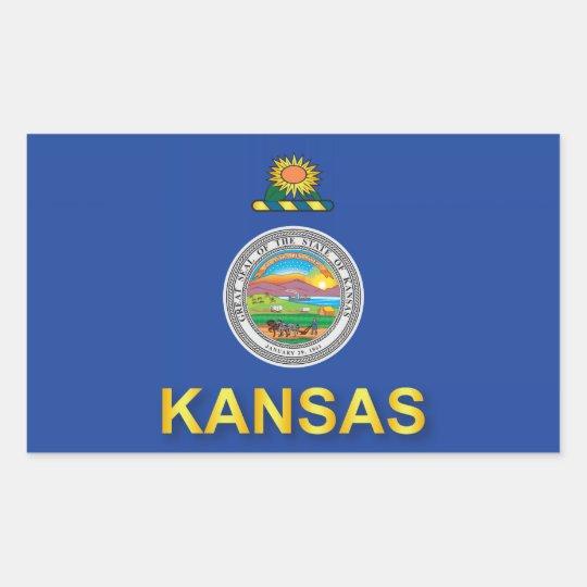 Flag of the State of Kansas Rectangular Sticker