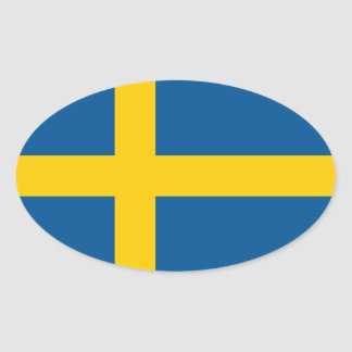 Flag of the Sweden Sticker (Oval)
