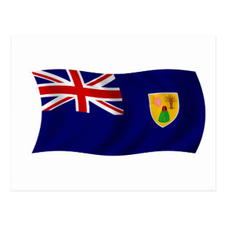 Flag of the Turks and Caicos Islands Postcard