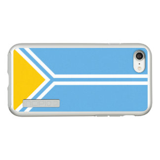 Flag of the Tuva Republic Silver iPhone Case