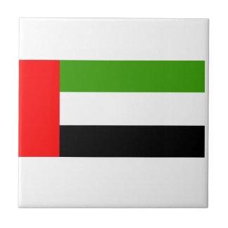 Flag of the U.A.E Small Square Tile