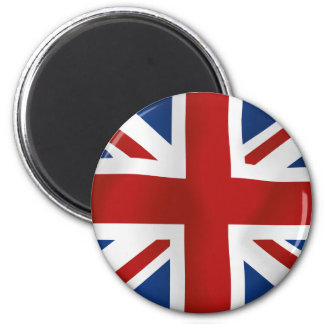 Flag of The United Kingdom 6 Cm Round Magnet