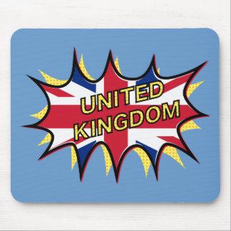 Flag of The United Kingdom KAPOW star burst Mouse Pad